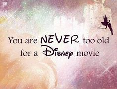 You are never too old for a disney movie :) little mermaid and finding nemo are two of my favorites! Old Disney, Disney Magic, Disney Love, Disney Pixar, Disney Stuff, Tinkerbell Disney, Disney Humor, Disney Colors, Evil Disney