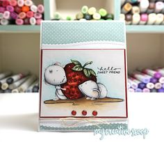 How to Color a Strawberry with Copic Markers - Step by Step Tutorial