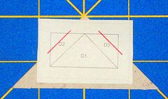 Position the fabric patch for Piece 1