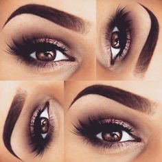 Beautiful gold and brown smokey eye look - perfect anytime #makeup...x