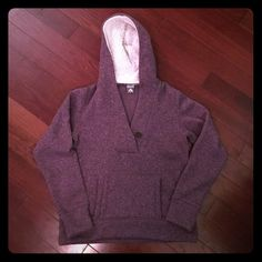 Nike ACG Women's hoodie sweatshirt. Size: XL. Nike ACG Women's purple long sleeve hooded sweatshirt. Size: XL. Front pocket, hood, v-neck with nice button detail. Excellent barely worn condition. Nike Tops Sweatshirts & Hoodies