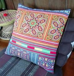 These Hmong tribal pillows are perfect at adding a bohemian ethnic look to your home