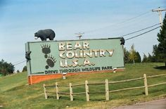 Bear Country USA   South Dakota.  Loved it!!!  Literally bears everywhere!  Black bears, brown bears and baby bears.