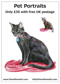 Pet Portrait Painting by FlowaPowaArt on Etsy, £35.00    ...BTW,Please Check this out:  http://artcaffeine.imobileappsys.com