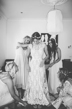 Our Emily wearing the Rue De Seine Ivy Gown || Available at The Bridal Atelier (instagram: @thebridalatelier) www.thebridalatelier.com.au