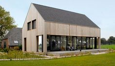Look and feel, style, cladding Shed Homes, Prefab Homes, Modern Barn House, Contemporary Barn, Casas Containers, Small Buildings, House In The Woods, Cabana, Future House