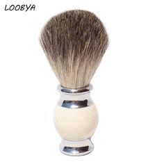 2017 New Pure Badger Shaving Brush Shave Razor Beard Brushes with Imitation Ivory Acrylic Handle for Men's Shave