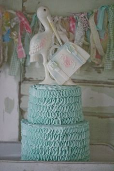 Vintage Stork baby shower - Jenny Cookies