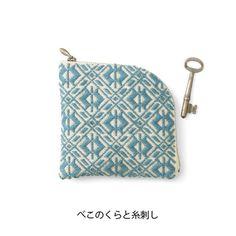 Japanese kogin embroidery purse