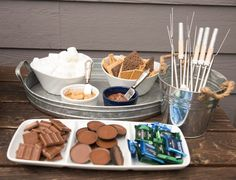 Smore Station, Party Dessert Bar, Dessert Station • Confetti Party Plans