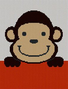 sock+monkey+crochet+blanket | ... crochet pattern graph 100st ebay crochet patterns sock monkey afghan