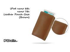 PDair iPod nano 8th / nano 7th Leather Pouch Case (Brown)