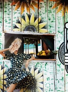 """Brazilian Treatment"" VOGUE US, July 2012 Model: Karlie Kloss Photographer: Mario Testino Style: Phyllis Posnick"
