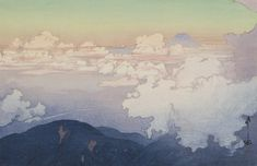 Above the Clouds (Un-Hyo), from the series Southern Japanese Alps (Nihon Minami Arupusu Shu) by Hiroshi Yoshida from Toledo Museum of Art