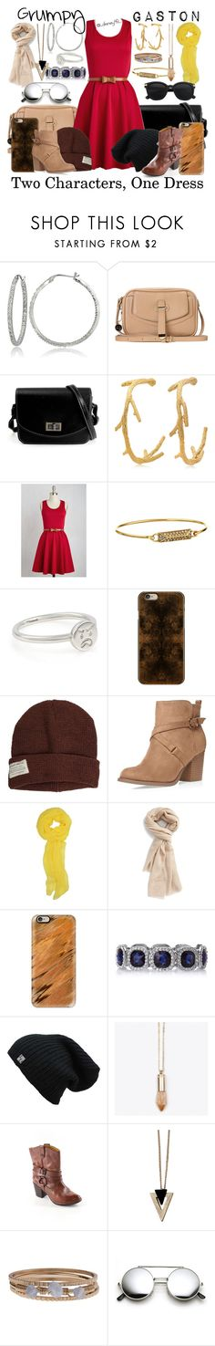 """""""2 Characters, 1 Dress: Grumpy and Gaston"""" by disney49 ❤ liked on Polyvore featuring Icz Stonez, ANS, George & Laurel, Rebecca Minkoff, Casetify, Krochet Kids, Dorothy Perkins, Nordstrom, Crystal and Sage and Bussola"""