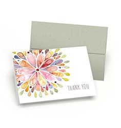 Set-of-Thank-You-Note-Cards-Watercolor-Flower-