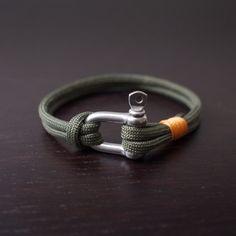 Army green bracelet paracord bracelet Mens bracelet