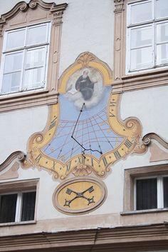 St Peter's clock. Salzburg, Austria