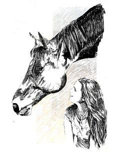 #dibujo #retrato Naroa con su caballo