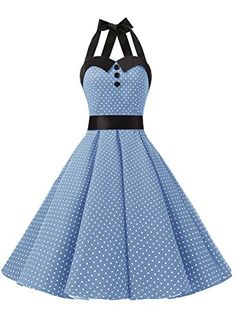 f0df55d55b70 Dressystar Vintage Polka Dot Retro Cocktail Prom Dresses 50's 60's  Rockabilly Bandage: Amazon.co.uk: Clothing
