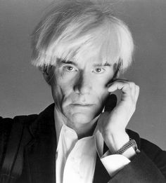 Andy Warhol.  The real one.  Finally.  Possibly my favorite photo of him -- ever!