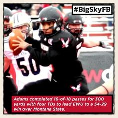 Your ROOT SPORTS #BigSkyFB Offensive Player of the Week is @Eastern Washington University' Vernon Adams #GoEags @EWU Alumni