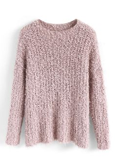 Joyous Daybreak Fluffy Sweater in Pink - New Arrivals - Retro 0dfecc255