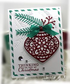Hello Peeps !!!     Happy Thursday !!!     Have you already seen the Holiday Catalog? I have the Pretty Pines thinlits dies   on ...