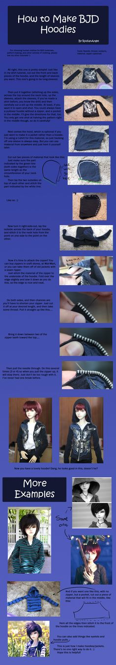 How to Make BJD Hoodies by RodianAngel.deviantart.com on @deviantART