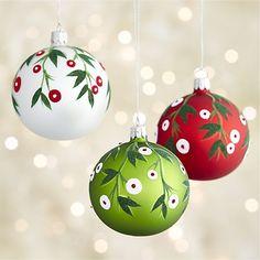 Mistletoe Ball Ornaments  | Crate and Barrel