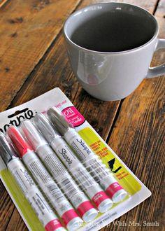 looks like a great tutorial for using these oil based sharpie markers. Baa-Humbug+Sharpie+Mug
