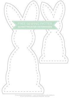 Black and White Osterhasen mit kostenlosem Schnittmuster Gratis Schnittmuster Osterhase - Free Sewing Pattern