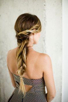 Long braid: http://www.stylemepretty.com/living/2015/01/29/a-perfectly-chic-braided-bun/