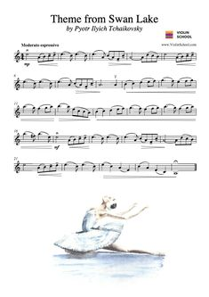 Theme from Swan Lake – New Sheet Music [Level 3] - ViolinSchool.com