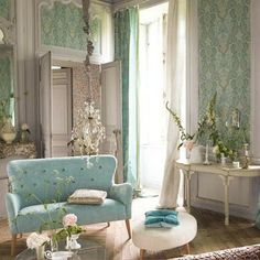 Torquoise Living Room