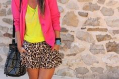 Neon + leopard. if i could pull this off