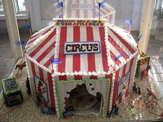 Circus Gingerbread House by peachicken, via Flickr