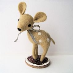 Farah the Fawn Felted Miniature... adorable!