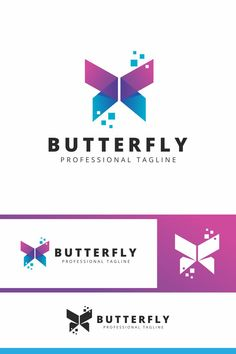 Butterfly Tech Logo Template Butterfly Tech Logo: multifunctional logo that can be used in technological companies, in companies and applications for software development, construction Silhouette Logo, Design Boutique, Clothing Brand Logos, Butterfly Logo, Butterfly Template, Gradient Logo, Education Logo, Physical Education, Cards