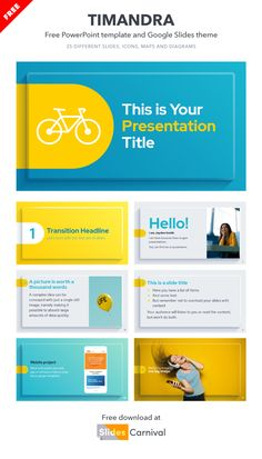 Present your content in a professional way with this free template. Take advantage of a clean design in which your content will have the maximum prominence, but not so simple that it is boring. This theme is a great choice for presenting a marketing campaign or pitch deck in front of investors. Clean Design, Investors, Presentation Templates, Pitch, Campaign, Deck, Content, Marketing, Words