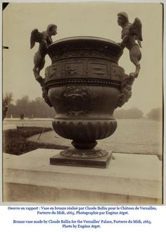 Bronze vase by Claude Ballin for Versailles Palace, Parterre du Midi, 1665.