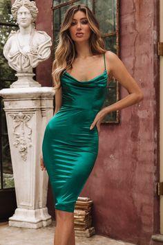 Kourtney Midi Dress Jade Simple V-neck Long A-line Prom Dresses, Cheap Prom Dresses Satin Dresses, Tight Dresses, Silk Dress, Sexy Dresses, Evening Dresses, Fashion Dresses, Prom Dresses, Green Satin Dress, Jade Dress