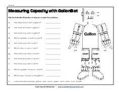 FREE Capacity Worksheets~ 30 printables with answer keys