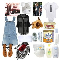 """""""Pregnant Of My Idol (Part12,Day In the park with Liam, Justin, Niall, Louis, Zayn, Harry And the Baby)"""" by juliannagonzalezv ❤ liked on Polyvore featuring beauty, Christian Dior, Kate Spade, Johnson's Baby, Nestlé, Warehouse, ONLY, Hasbro, Huggies and London Rebel"""