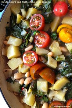 Swiss Chard and White Bean Soup Recipe -- at ReluctantEntertainer.com