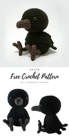 Crochet Animal Patterns, Crochet Patterns Amigurumi, Crochet Animals, Crochet Dolls, Knitting Patterns, Halloween Crochet Patterns, Doll Patterns Free, Kawaii Crochet, Cute Crochet