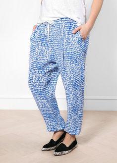 Pantalon baggy imprimé - Pantalons Violeta | MANGO Outlet France