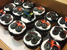 Monster truck cupcakes boys Ideas for 2019 Monster Truck Cupcakes, Monster Truck Birthday, Monster Trucks, Monster Jam, Pink Truck, Truck Cakes, Food Truck Design, Food Gallery, Custom Cupcakes