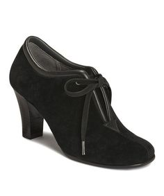 Take a look at this Black Suede Role Reversal Bootie by Aerosoles on #zulily today!