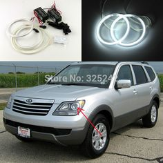 Find More Angel Eyes Information about Excellent Quality Ultrabright headlight illumination CCFL Angel Eyes kit For Kia Borrego 2008 2010 Halo Ring angel eyes kit,High Quality Angel Eyes from Hongkong exl Industrial Co., Ltd.(guangzhou) on Aliexpress.com